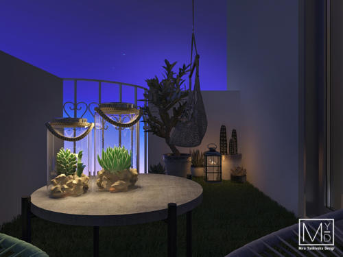 Балкон ночной вид