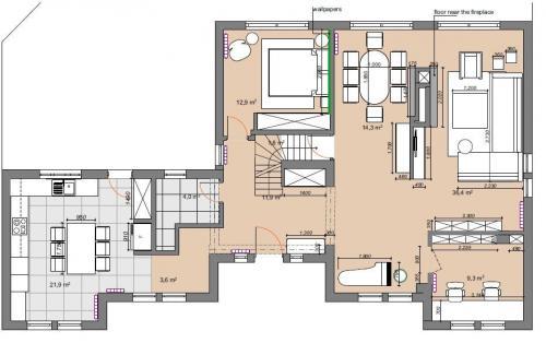 1 floor