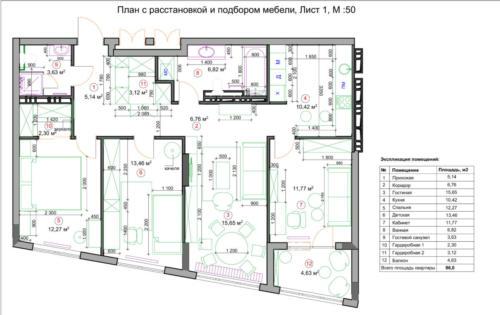 4 План с расстановкой мебели основной